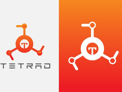 Tetrad robotics company logo design ui design illustration logo flat minimaist modern minimalist best logo logofolio 2021 robotics logo robot logo robotics logo design modern logo icon typography flat minimal branding