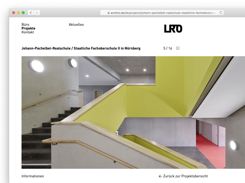 LRO project page gallery website stuttgart architecture web