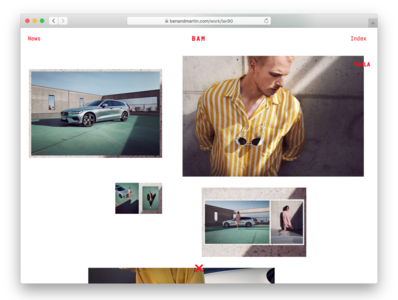 BAM Project Pages modular system cursor interaction cologne grid photography web