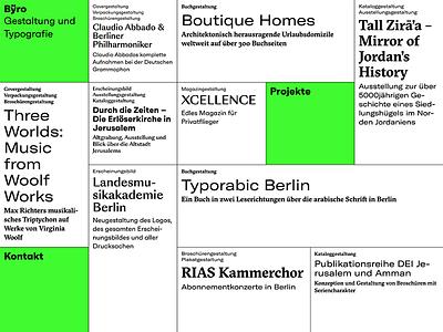 Bÿro website kreuzberg berlin design studio byro webfonts typography