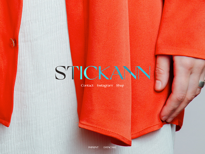 STICKANN transition splash page web model photography blur css effects fashion stickann
