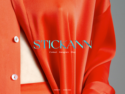 STICKANN transition web model photography blur css effects splash page fashion stickann