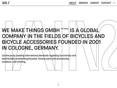 WE MAKE THINGS wmt contemporary webdesign interaction design webdesign ui ux website bmx bike bicycle cologne wemakethings