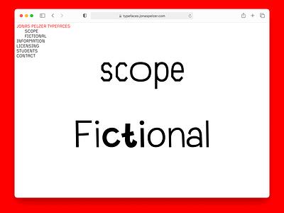 Jonas Pelzer Typefaces fictional scope website type foundry type design typography