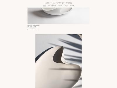 Helle Damkjær web development website ceramic artist danish designer