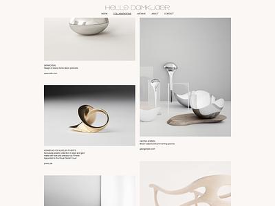 Helle Damkjær portfolio web development website ceramic artist danish designer