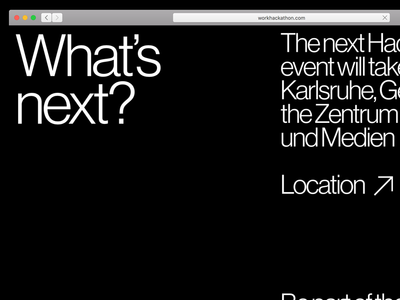 Work Hackathon Karlsruhe