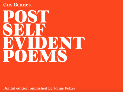 Post-Self-Evident Poems