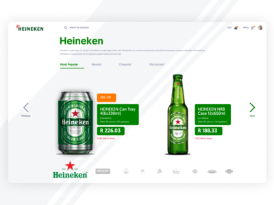 Heineken e-Commerce Dashboard