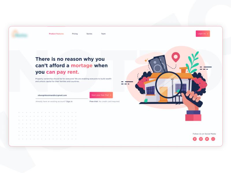 Start-up Landing Page