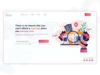 Start-up Landing Page web deisgn fintech start-up website design landing page