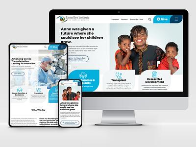 Lions Eye: Responsive Web Design adobe xd wireframes design system user experience user interface graphic design responsive web design web design ux ui design