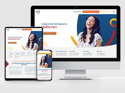 Nth Degree Orthodontics: Responsive Design responsive design webdesign web logo adobe xd user experience responsive web design design system design branding ux graphic design ui