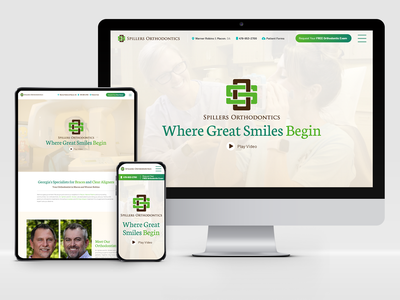Spillers Orthodontics: Responsive Design medical healthcare orthodontics orthodontia websites website digital responsive responsive design web design web ui adobe xd responsive web design graphic design design system design