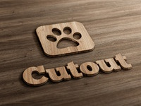 Cut-out Wood Mock-Up