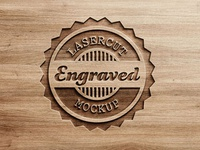 Logo Mock-Up - Carved Wood