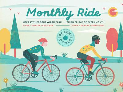 bike rides! bikeshop bipoc women outdoors nature minneapolis artwork cycling biking bike vector illustration design art