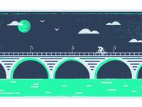 bike the stone arch bridge