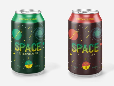 Space Beer Cans