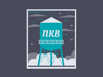 Nkb flat design vector icon branding illustration at-a-whirl art minneapolis northeast northrup king building