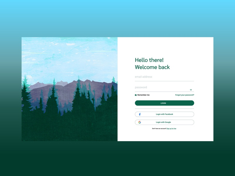 hello! ux gradient web interface webdesign design vector ui illustration