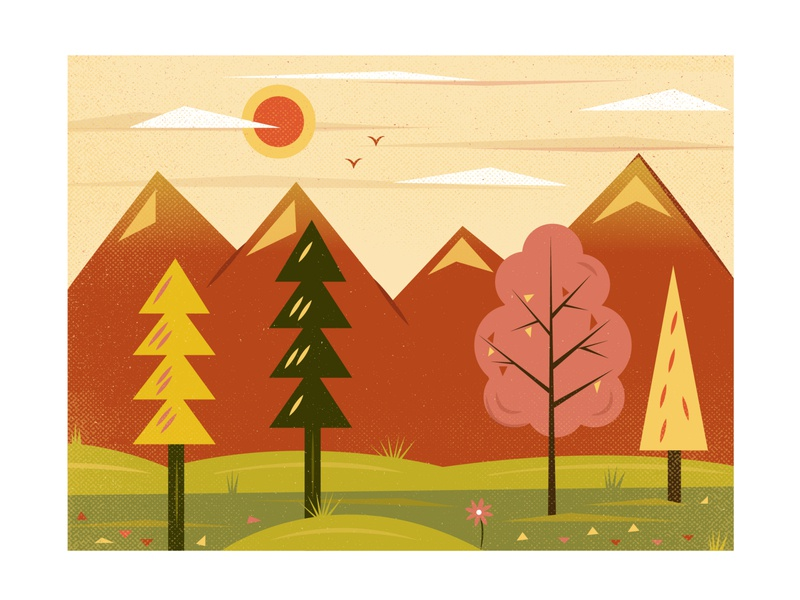 October pumpkin orange vector flat leaves digital art design illustration october nature autumn fall