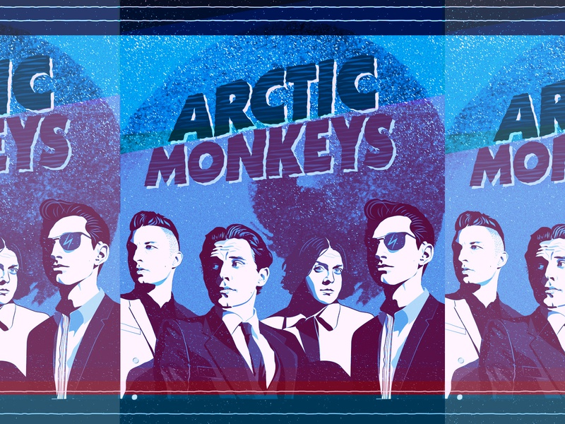 arctic monkeys album artwork cover art music band arctic monkeys art design vector illustration