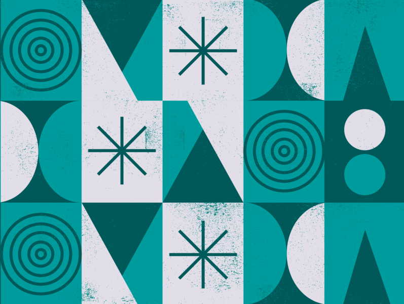 just having some pattern fun. ui art design vector illustration color lines shapes green circles triangles geometric texture pattern