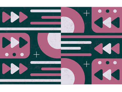 music pattern pattern design art design vector illustration ui playlist tunes player beats fun play record music circle rounded geometric pattern