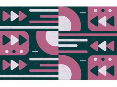 music pattern pattern design art design vector illustration ui playlist tunes player beats fun play record music circle rounded geometric pattern