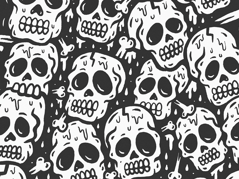 39 skull pile 39 exhibition piece by sindy sinn dribbble. Black Bedroom Furniture Sets. Home Design Ideas