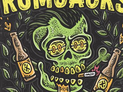 THE RUMJACKS: European Tour Poster