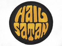 'HAIL SATAN' Embroidered Patch Lettering & Artwork