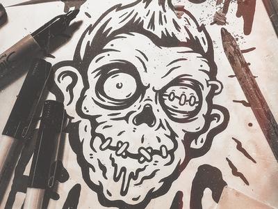 shrunken head artwork by sindy sinn dribbble. Black Bedroom Furniture Sets. Home Design Ideas