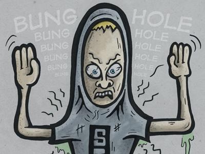 I AM PORTFOLIO! portfolio bunghole cornholio tv beavis  butthead mtv cartoon beavis sketch illustration comic