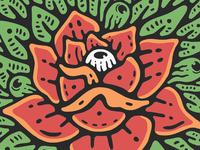 Warmup Sketch: Rose Illustration