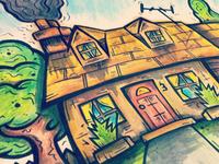 HAND-DRAWN HOUSE