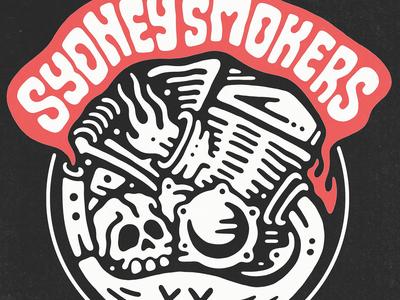 SYDNEY SMOKERS: Bike Club Logo