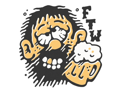FTW: Christmas party hangovers sindy sinn comic skull fuck you typography tattoo logo apparel two colour screenprint retro illustration christmas party beer hangover ftw