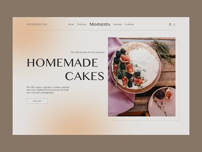 Confectionery website | Handmake cakes confectionert bakery cake landing web design ux ui design