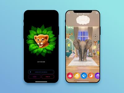 Animar animals 3d game realistic design ui app