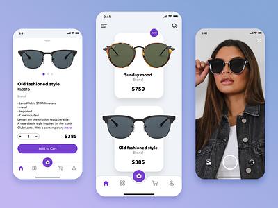 Sunglasses store sunglasses shop store ios ui design app