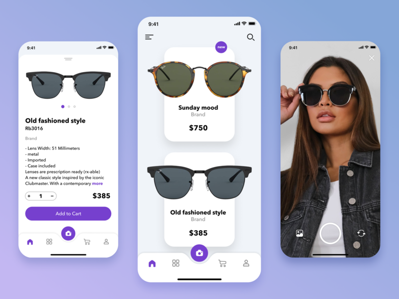 Sunglasses store sunglasses shop store ios ui design app
