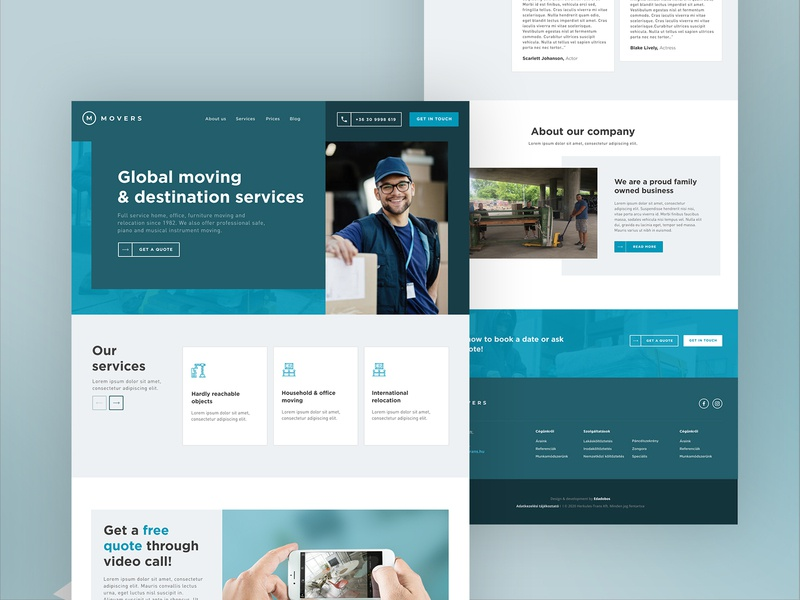 Branding and UI exploration for a moving services company 2 mint movingservice teal cyan minimalist uidesign branding ui flat