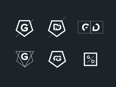 DGDA Logo options V2 hipster minimalist black logo