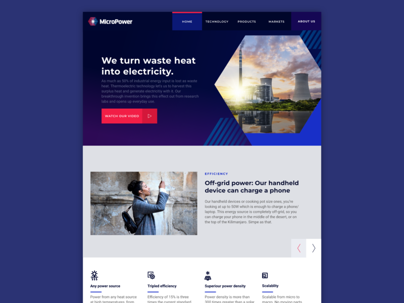 MicroPowerGlobal Homepage branding flat renewable energy engineering uiux ui webdesign