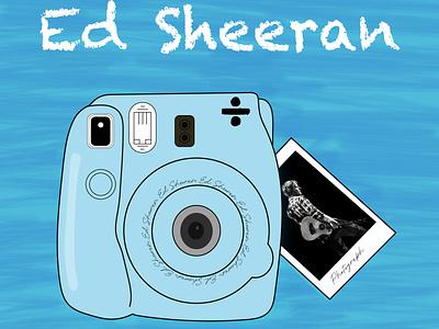 Ed Sheeran illustraion takeaphoto song design art singer vector illustration designofposter poster instax photocamera photograph edsheeran posters