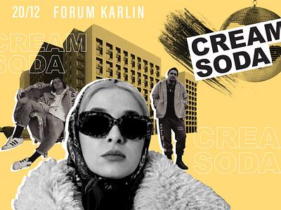 Cream Soda poster design poster art cream soda poster