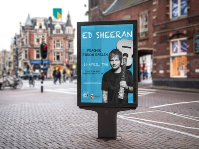 Billboard square sheeran vector poster concert billboard singer street edsheeran design