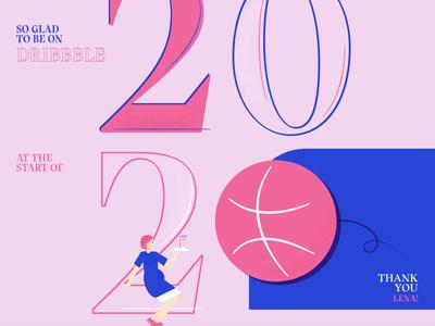 Hello Dribbble & hello 2020